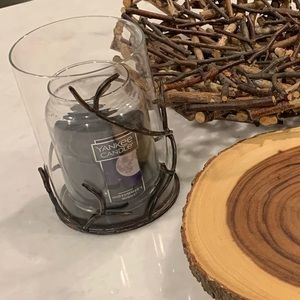 Fall decor candle holder